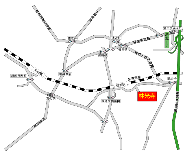 林光寺斎場「林光寺客殿」アクセス地図